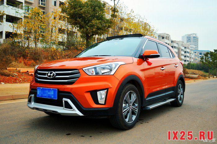 Hyundai Creta красного цвета