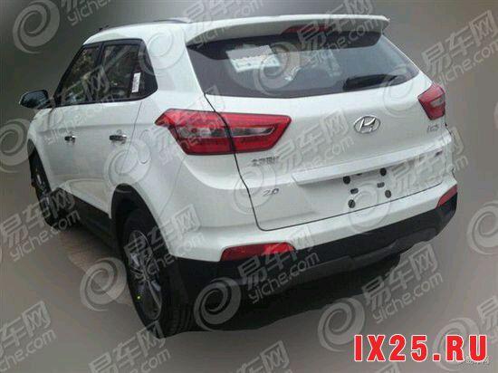 задняя часть Hyundai Creta в максимальной комплектации