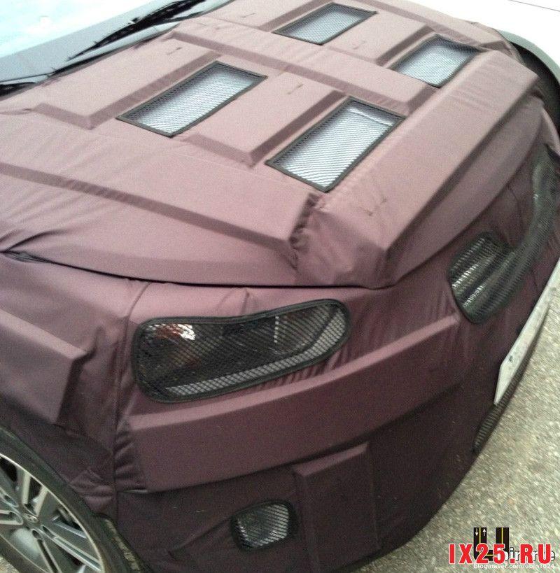 Капот Hyundai Creta под защитной пленкой